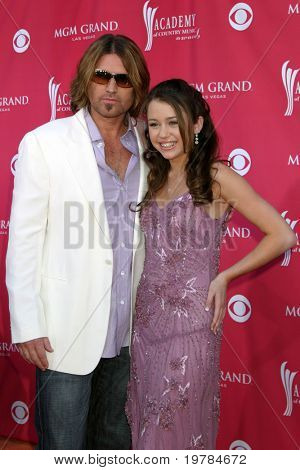 LAS VEGAS - MAY 23:  Billy Ray Cyrus & Miley arives at the 2006 Academy of Country Music Awards  at MGM Garden Arena on May 23, 2011 in LAS VEGAS, NV