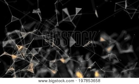 Abstract technology and engineering background. 3D rendering