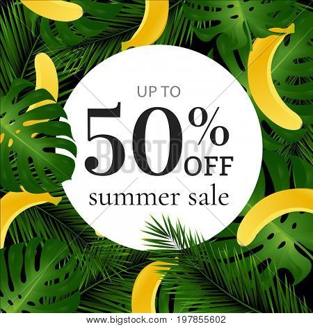 Sale Poster With Banana