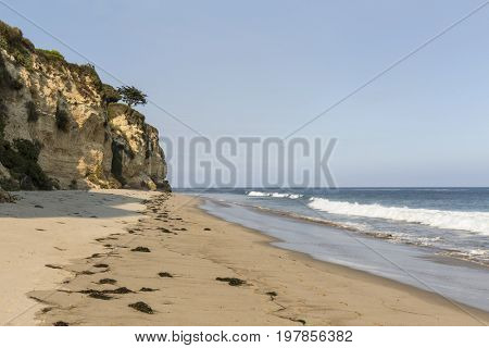 Afternoon at secluded Dume Cove Beach in Malibu, California.