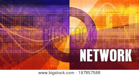 Network Focus Concept on a Futuristic Abstract Background