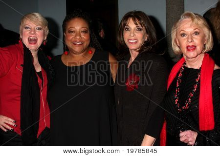 LOS ANGELES - FEB 18:  Alison Arngrim, Diane Amos. Kate Linder, Tippi Hedren at the VDay - Vagaina Monologues Performance at Barnsdall Gallery Theater on February 18, 2011 in Los Angeles, CA