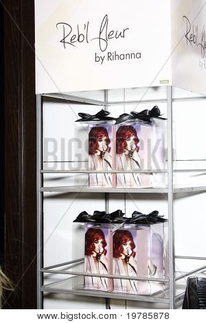 LOS ANGELES - FEB 18:  Display for 'Reb?l Fleur' at the Instore Appearance for her Fragrance Launch of 'Reb?l Fleur' at Macy's  on February 18, 2011 in Lakewood, CA
