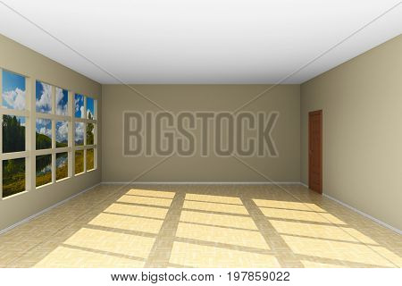 Empty classroom. 3D illustration