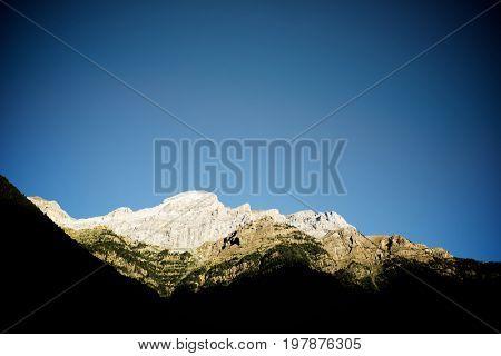 Peaks in Bujaruelo Valley, Pyrenees, Spain.