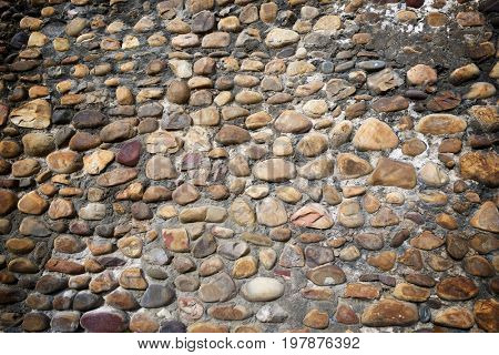 Roman wall in Leon city, Castilla Leon, Spain.