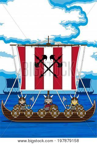 Longship With Vikings.eps