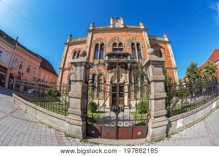 NOVI SAD SERBIA - JULY 30 2017: Vladicin court in the center of city of Novi Sad residential palace of the Serbian Orthodox Bishop of the Diocese of Backa.