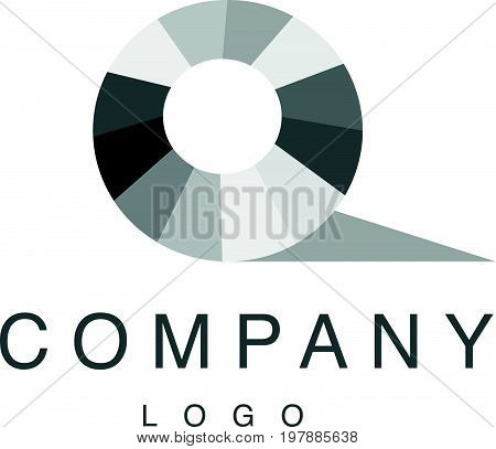 Vector abstract logo design with rhinestone gem sign isolated on white background. Good for jewelry company, lightning industry, fashion business company group insignia. Simple gem stone icon.