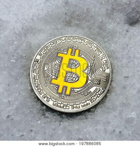 Yellow Bitcoin Coin