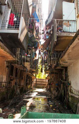 Impoverished And Poor District. Kota Kinabalu, Sabah, Malaysia.