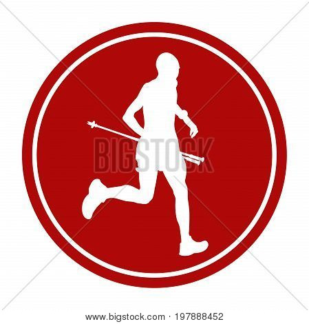 sports sign icon male athlete runner skyrunning
