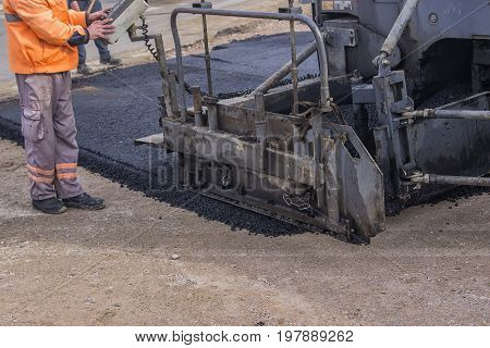 Detail Of Asphalt Paver Machine 2