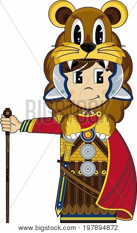 Roman Centurion With Lion.eps