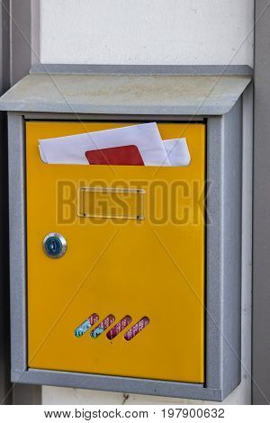 Letterbox Full Of Mail