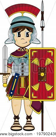 Roman Soldier With Spear.eps