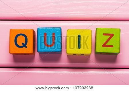 Sign cube wooden wood quiz cubes game