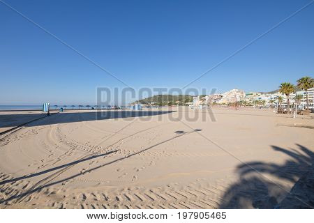 Concha Or Shell Beach In Oropesa Castellon