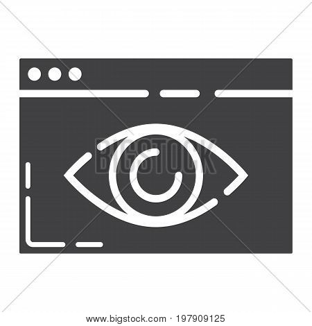 Web Visibility glyph icon, seo and development, browser sign vector graphics, a solid pattern on a white background, eps 10.