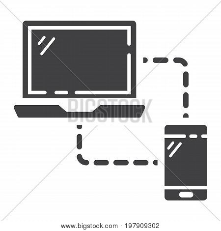 Responsive web design glyph icon, seo and development, sync devices sign vector graphics, a solid pattern on a white background, eps 10.