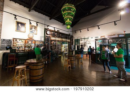 July 29th, 2017, Distillers Walk, Midleton, Co Cork, Ireland - Main hall inside the Jameson Experience, an Irish whiskey museum and visitor centre located in the Old Midleton Distillery in Midleton