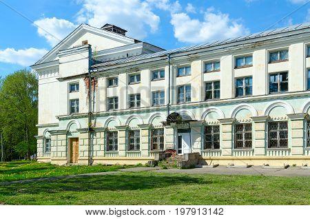 Destruction of former House of Officers (House of Culture) Polotsk Belarus
