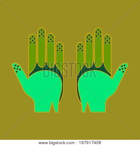 Icon in flat design Golf gloves fashion
