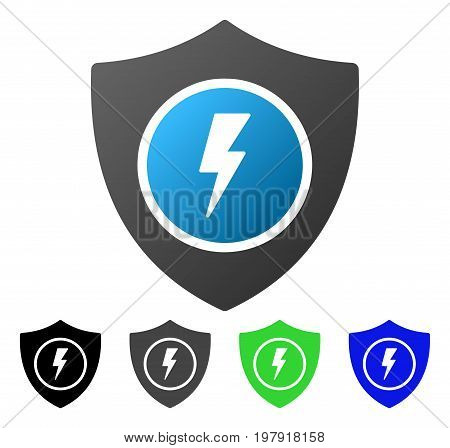 Electric Guard flat vector icon. Colored electric guard gradient, gray, black, blue, green pictogram versions. Flat icon style for application design.