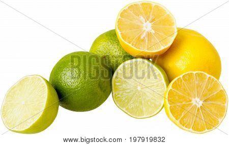 Heap lemons limes healthy lifestyle low calorie natural food low fat