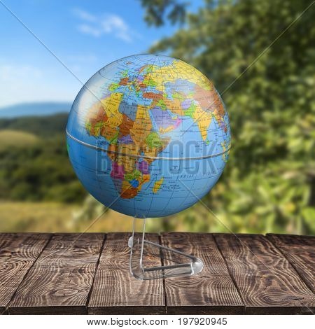 Earth planet globe sphere background isolated business
