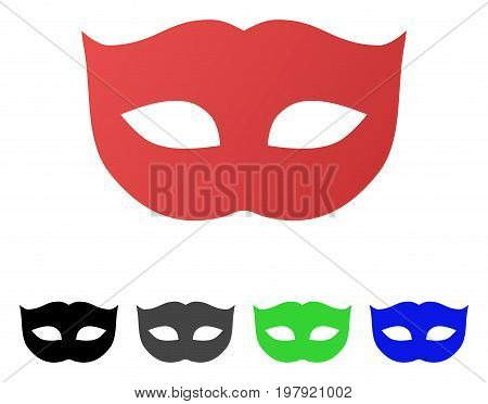Privacy Mask flat vector pictogram. Colored privacy mask gradient, gray, black, blue, green pictogram versions. Flat icon style for graphic design.