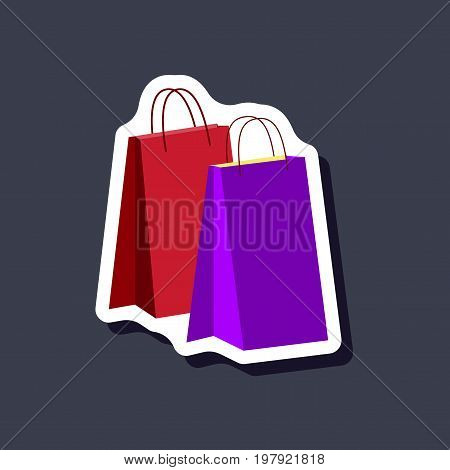 paper sticker fashion clothes paper bags fashion vector