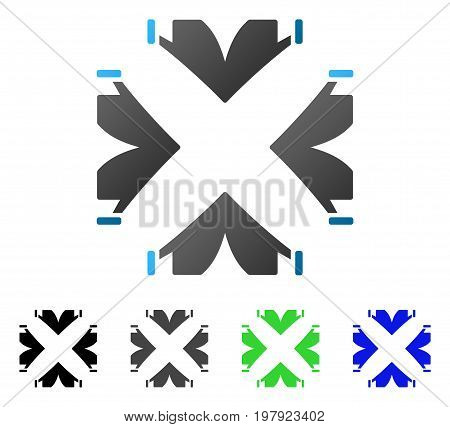 Tent Camp flat vector pictogram. Colored tent camp gradiented, gray, black, blue, green icon versions. Flat icon style for web design.