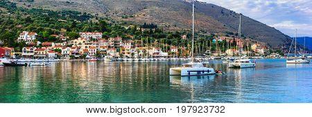 Beautiful places of Greece, Ionian Island Kefalonia. picturesque Agia Efimia village