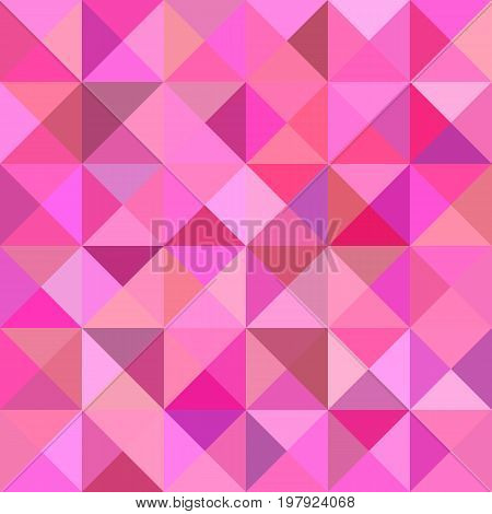Geometrical abstract triangle tiled background - vector graphic from triangles in pink tones