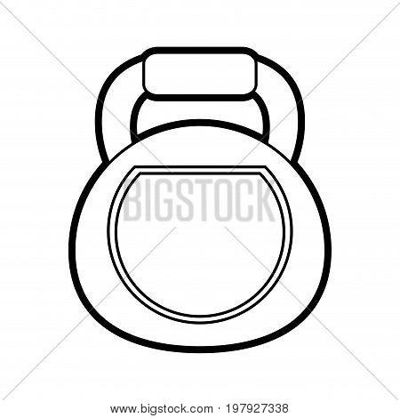 kettlebell exercise equipment icon image vector illustration design black line