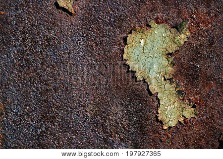 Rusty metal surface with cracked green paint abstract rusty metal texture rusty metal background corrosion decay metal background decay steel decay