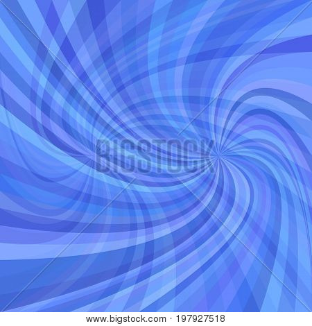 Abstract double spiral background - vector illustration from spun rays in blue colored tones