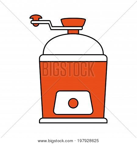 grinder coffee related icon image vector illustration design one color