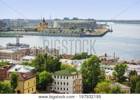 Confluence Of Volga And Oka. Nizhny Novgorod. Russia