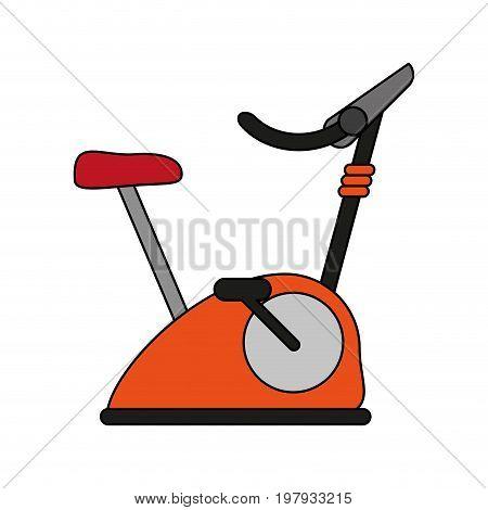 stationary spinning bike exercise equipment icon image vector illustration design