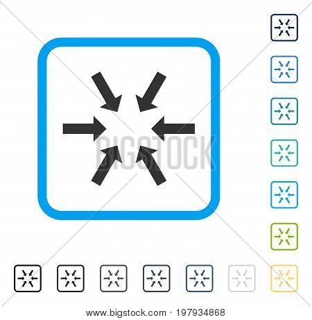 Compact Arrows icon inside rounded rectangle frame. Vector illustration style is a flat iconic symbol in some color versions.