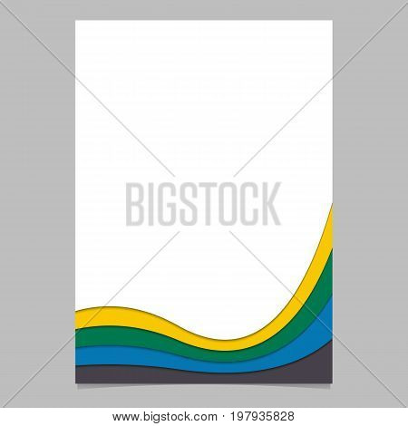 Abstract page template from colorful layer stripes - vector brochure, stationery graphic design with 3d effect