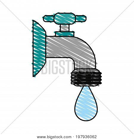 faucet sideview icon image vector illustration design sketch style