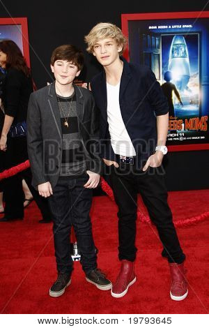LOS ANGELES - MARCH 6:  Greyson Chance,  Cody Simpson arrives at the