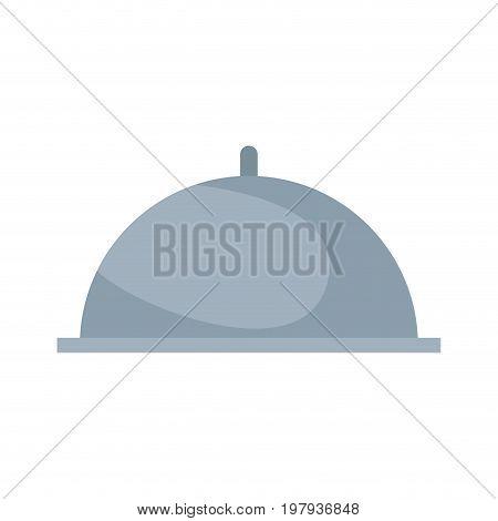 restaurant cloche serving tray cover dome vector illustration