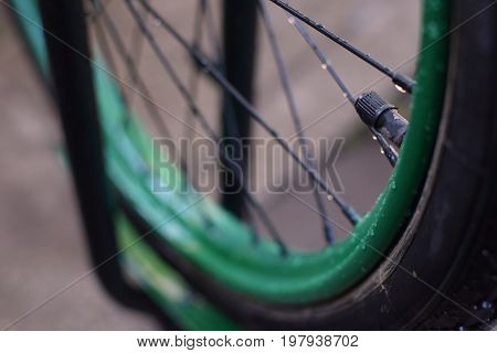 Another of my photos about the converted wheel from the old bicycle
