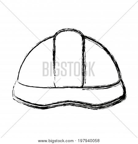 helmet industrial security safety icon vector illustration