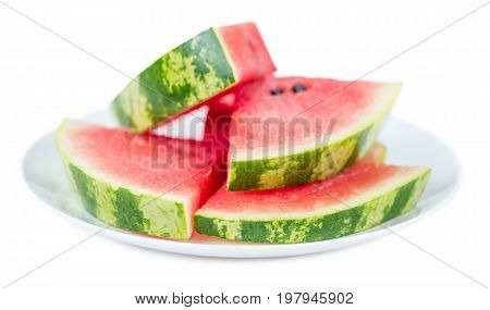 Fresh Watermelon (isolated On White)