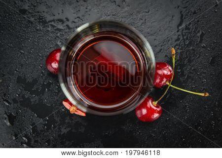 Fresh Made Cherry Liqueur